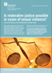 Is Restorative Justice Possible in Cases of Sexual Violence?