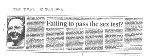 Failing to pass