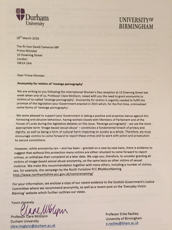 Photo of No 10 PM letter