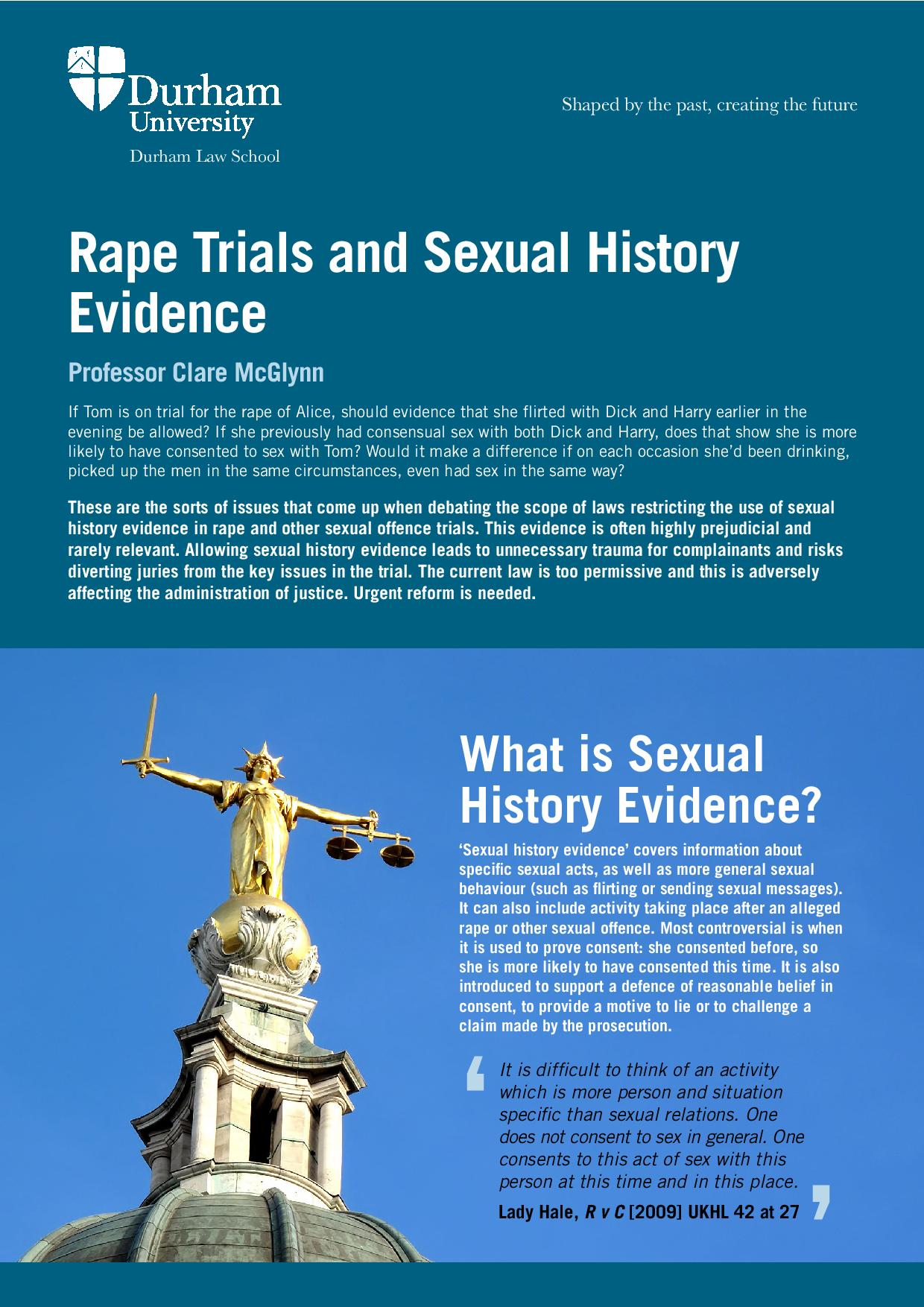 sufficiency of evidence and myths pertaining to rape law essay The eu swindle or how britain was shoe horned into the eu  after studying both the facts and the evidence,  i believe in a death penalty for violent rape,.